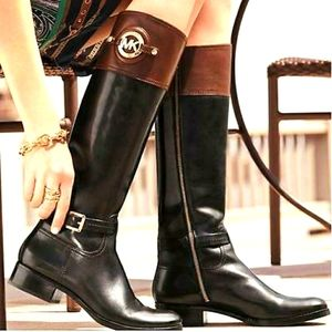 Michael Michael Kors two toned riding boots